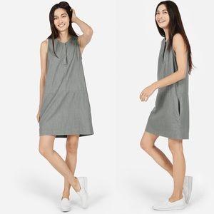 NWOT Everlane The Sleeveless Dress Grey Denim